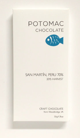 70% San Martin, Peru - Cococlectic: A Craft Bean-to-Bar Club featuring different American craft chocolate makers each month