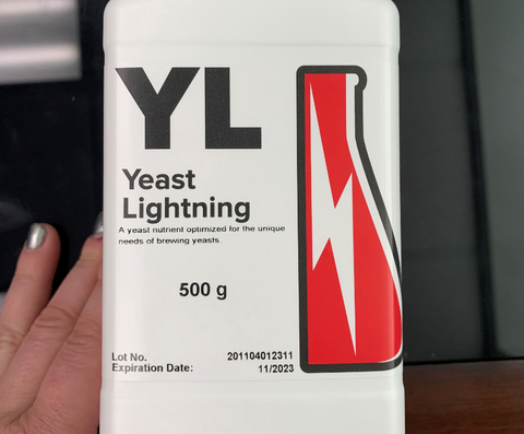 Yeast Lightning nutrient bottle