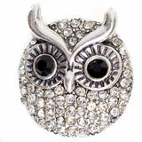 Owl medallion snap jewelry wisdom
