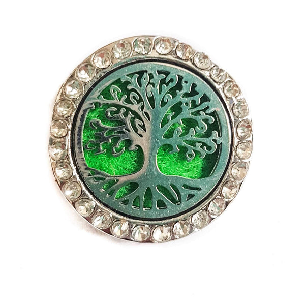 Essential Oil Locket Snap - Tree of Life - 22mm