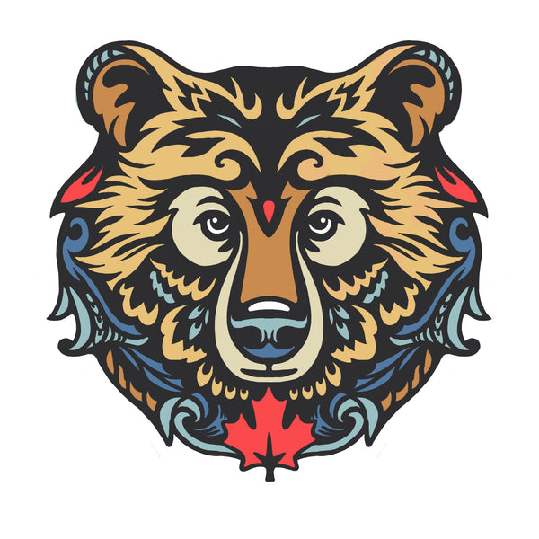 Artistic Canada Bear - Exclusive Design