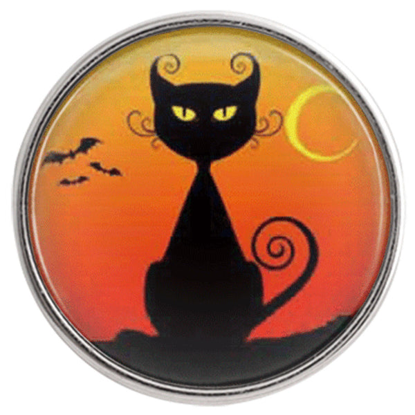 Art Black Cat Moon