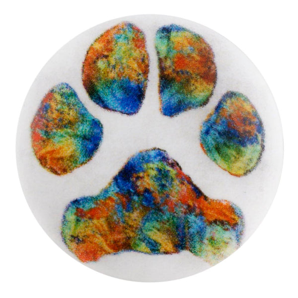 Painted Paw Print