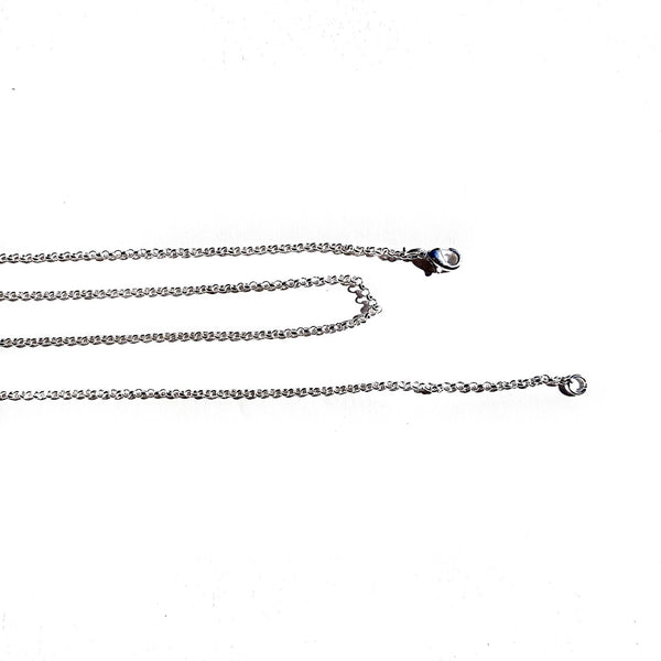 Silver Plated Link Style Chain long 80 cm - 31 1/2 inches