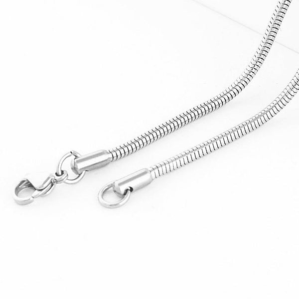 Stainless Steel Snake Style Chain 2mm wide  x 46cm long