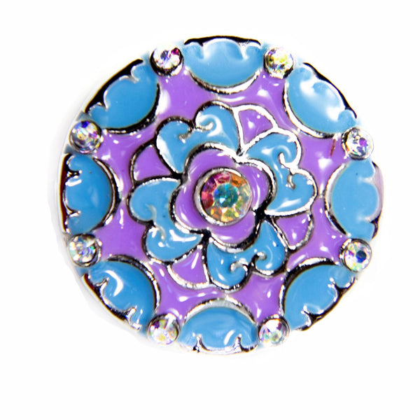 Boho Enamel Cabuchon - Blue/Purple