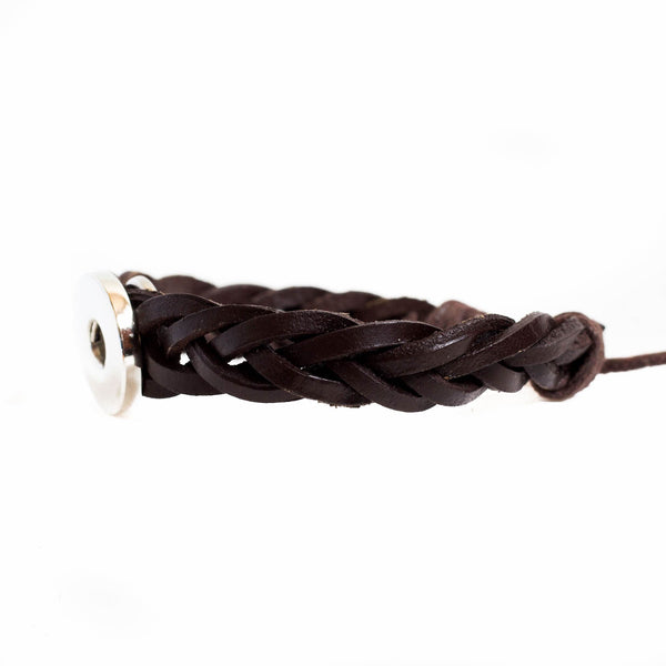 Leather Braid - Brown