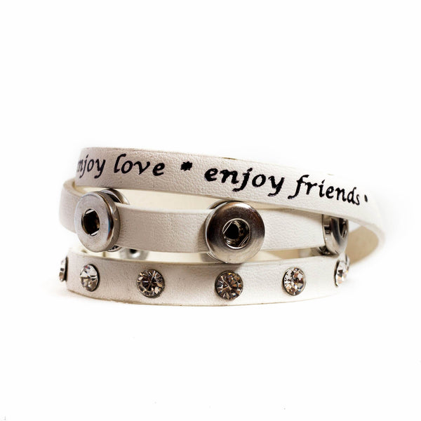 Mini Enjoy Wrap Bracelet - Camel DC