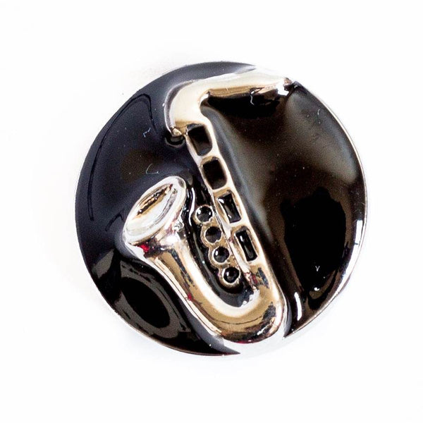 Saxophone on Black Enamel