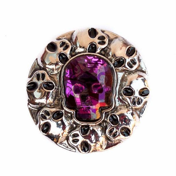 Skull Crystal - Purple