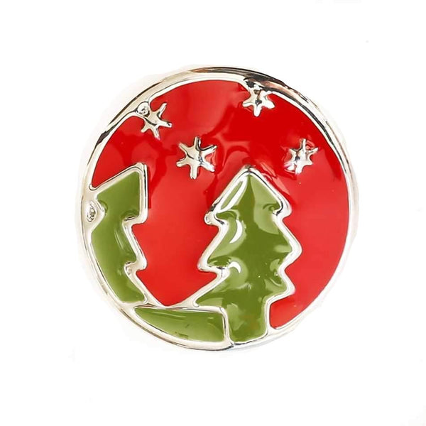 Enamel Evergreen Christmas Snow