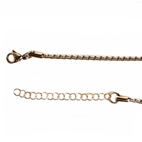 Stainless Steel Weave Style Chain 60cm
