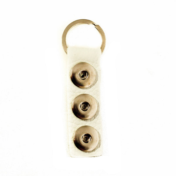 Triple Play Keychain - White