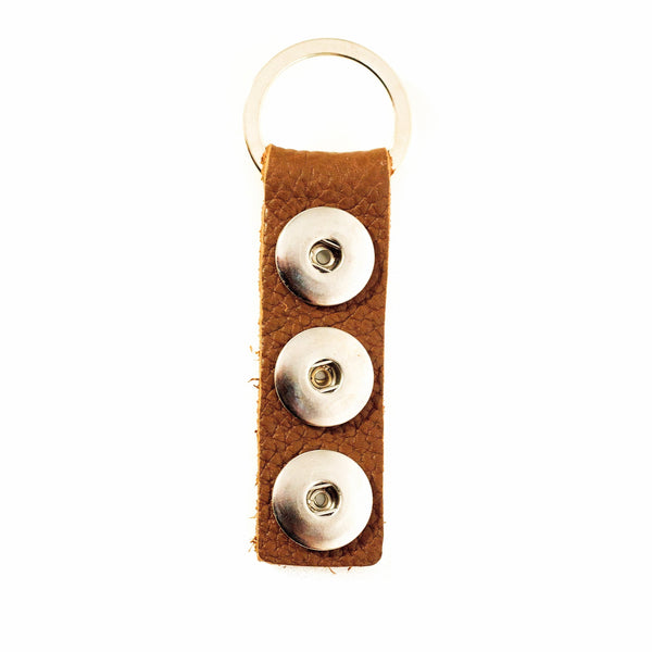 Triple Play Keychain - Brown