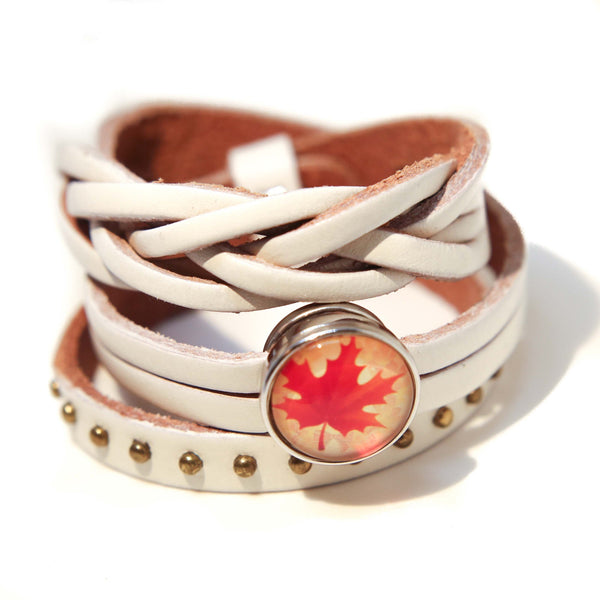 Rodeo Wrap Leather Bracelet - White