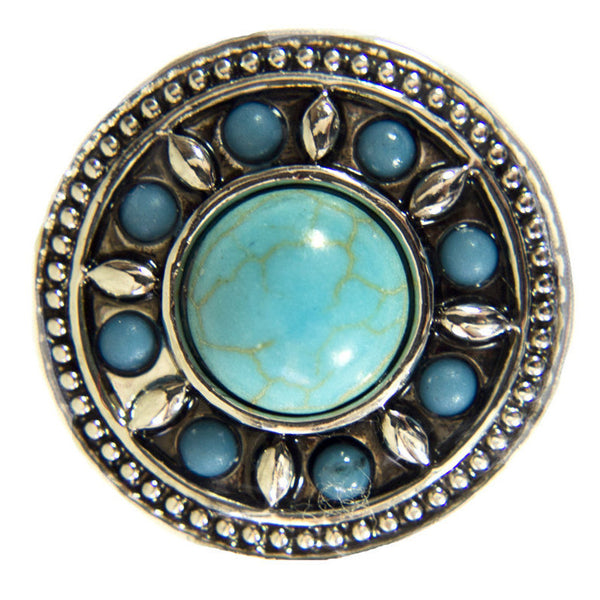 Antique Round Turquoise with Beads