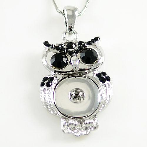 Bright Eyes Owl Pendant - Black eyes