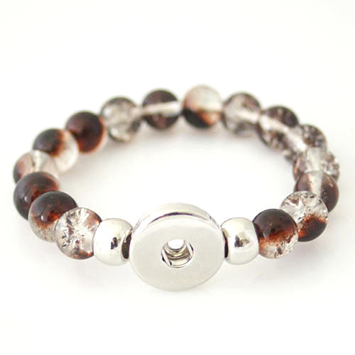 Glass Bracelet - Single Brown