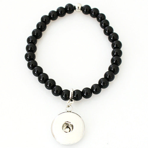 Jasmine - Black Bead Dangle