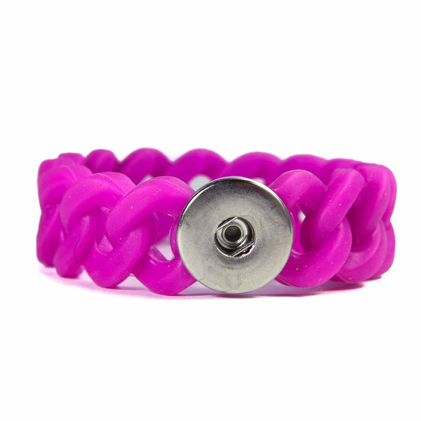 Silicone Stretch bracelet-Dark Pink