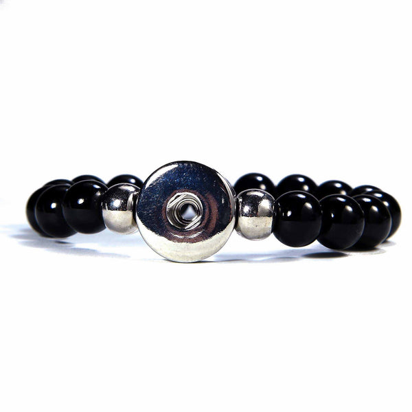 Obsidian Stone Bracelet - Single - Black