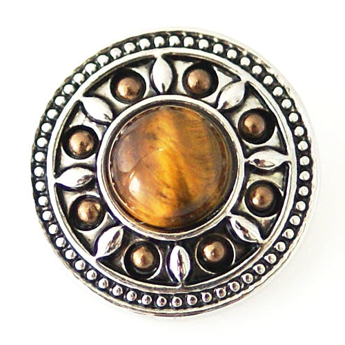 Antique Round Tiger Eye with Beads