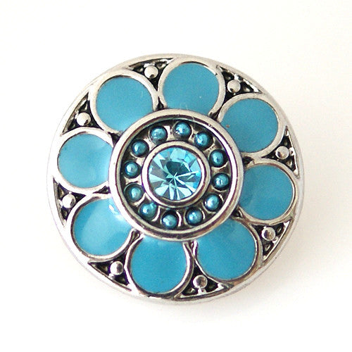 Enamel Flower - Teal DC