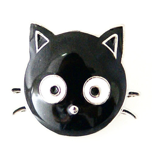 Mini Black Cat Enameled