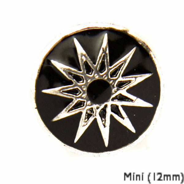 Mini Enamel Starburst - Black