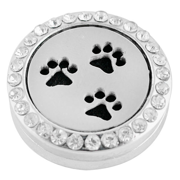 Essential Oil Locket Snap - Pawprints - 22mm