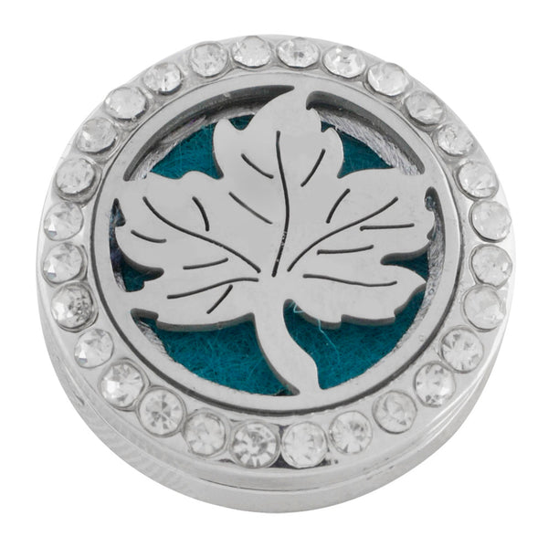 Essential Oil Locket Snap - Maple Leaf - 22mm