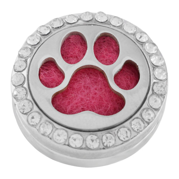 Essential Oil Locket Snap - Paw- 22mm