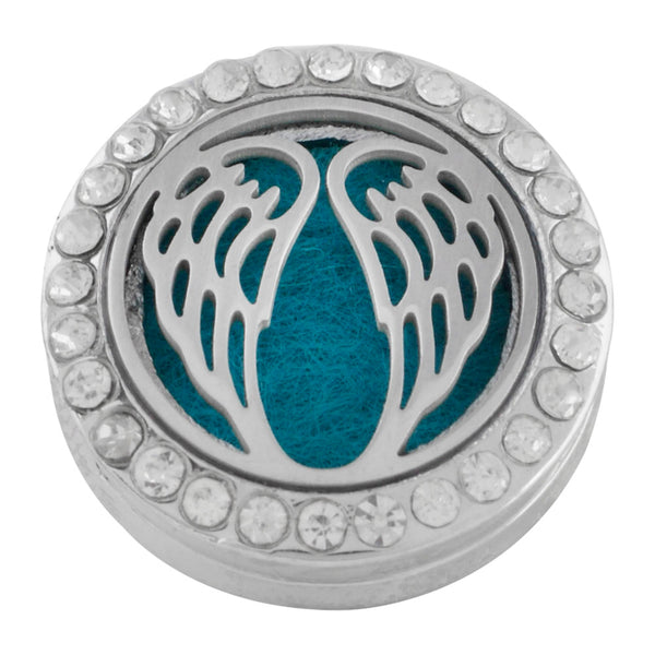 Essential Oil Locket Snap - Wings - 22mm
