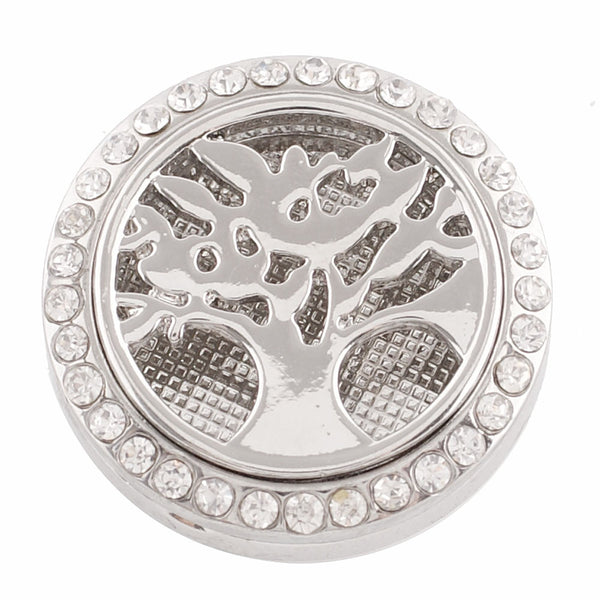 Essential Oil Locket Snap - Tree - 25mm