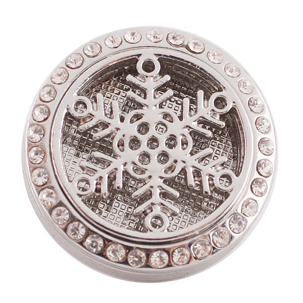 Essential Oil Locket Snap - Snowflake - 25mm