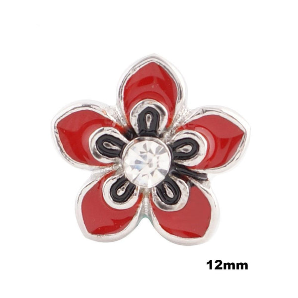 Mini Enamel Flower - Red