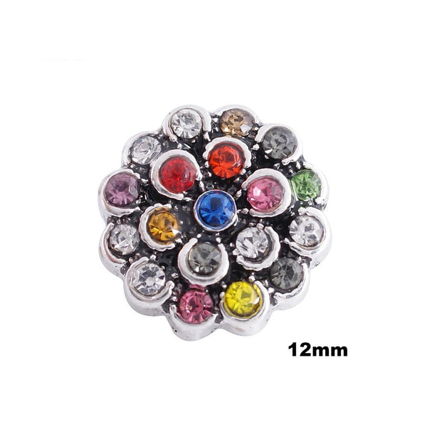 Mini Rainbow Flower - Silver trim