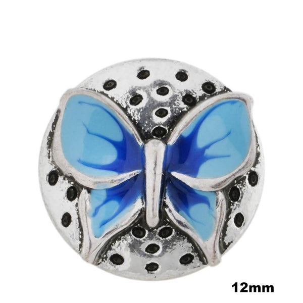 Mini Enamel Butterfly - Blue