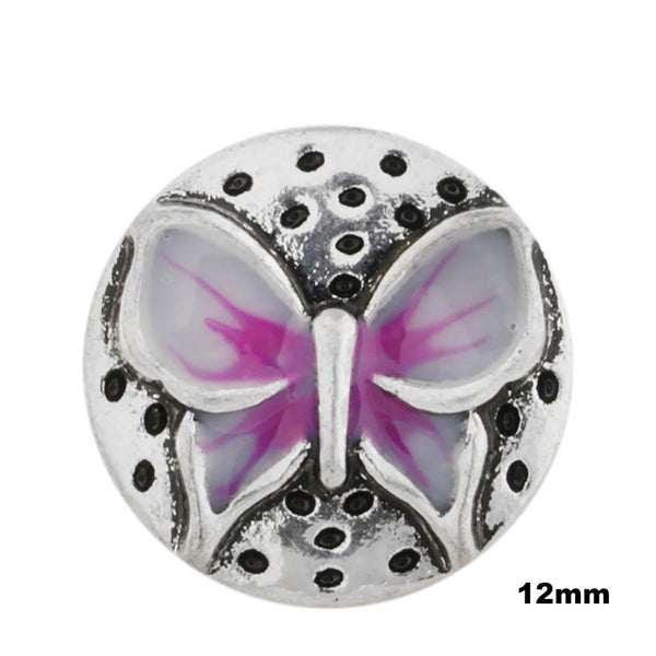 Mini Enamel Butterfly - Pink