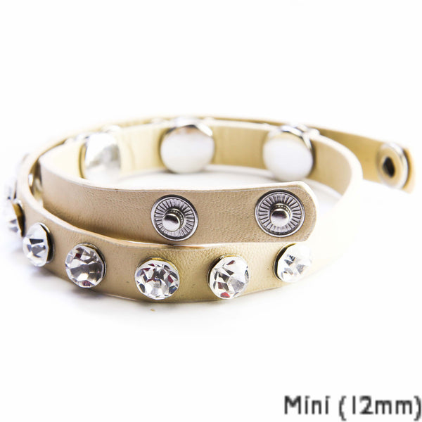 Double Mini Wrap Bracelet - beige