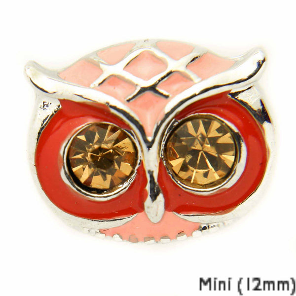 Mini Owl Face-Red DC