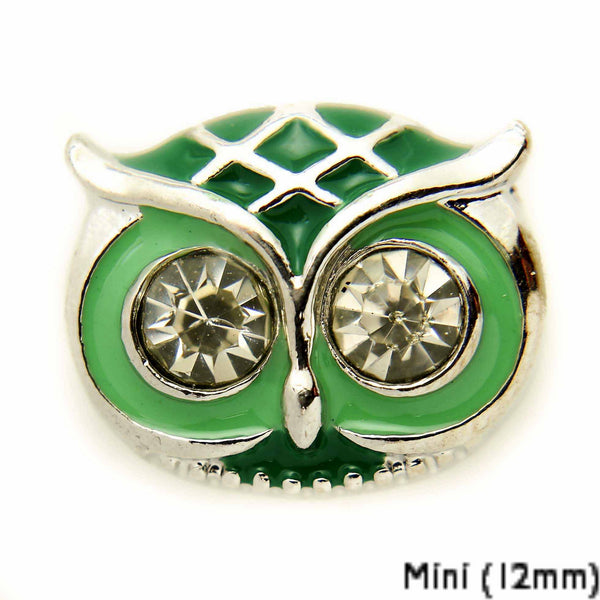 Mini Owl Face-Green DC