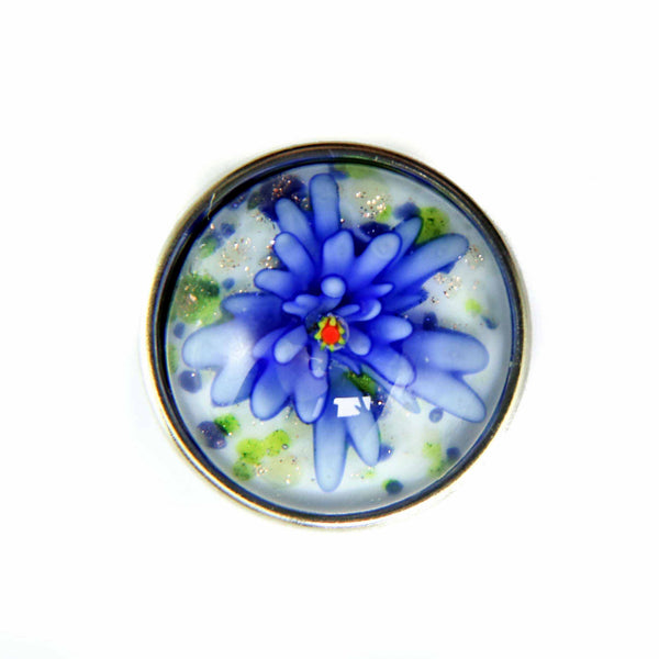 Glass Fairy Dust Dahlia Flower-Blue DC