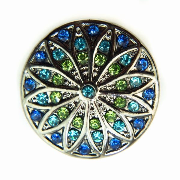 Stained Glass Sparkle - Blue