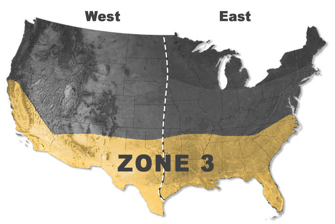 Deer food plot planting zones