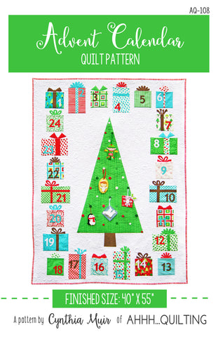 Advent Calendar Quilt Pattern - PAPER