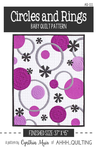 Circles and Rings Baby Quilt Pattern - PAPER