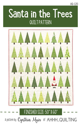 Santa in the Trees Quilt Pattern - PAPER