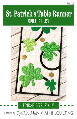 St. Patrick's Table Runner Pattern - PAPER