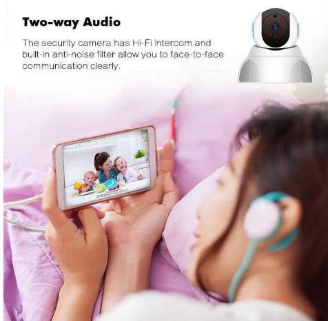 TotSpot™ Wireless home baby Security monitor - Wifi Indoor Camera, Baby Monitor w/ Video, Motion Detection, Night Vision & 2 Way Intercom